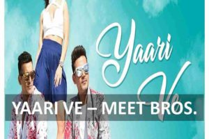 Guitar Chords of Yaari Ve