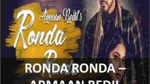 CHORDS OF RONDA RONDA