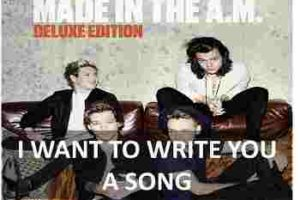 CHORDS OF I WANT TO WRITE YOU A SONG