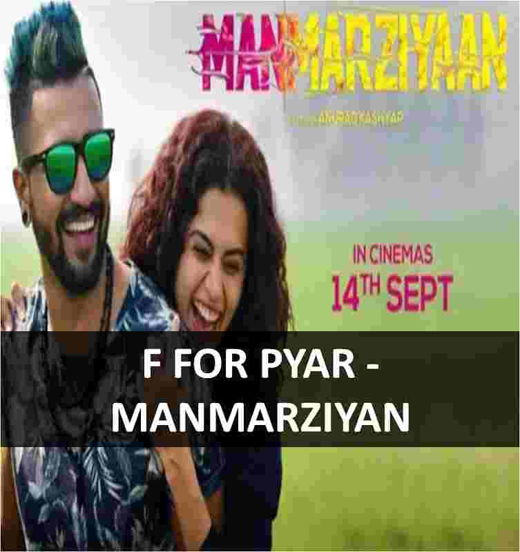 CHORDS OF F FOR PYAR